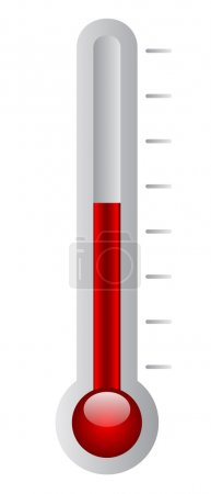 Vector illustration of thermometer