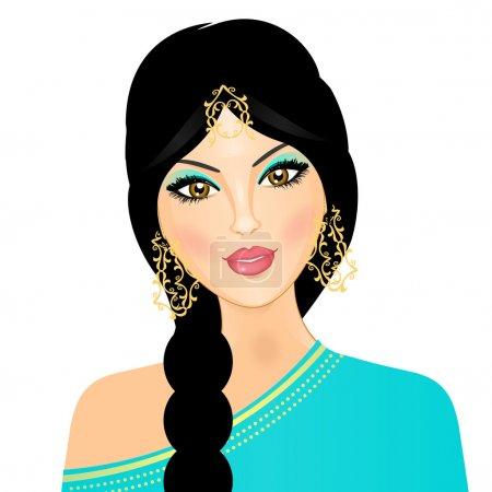 Illustration for Vector illustration of eastern girl - Royalty Free Image