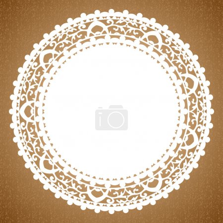 Vector background with napkin