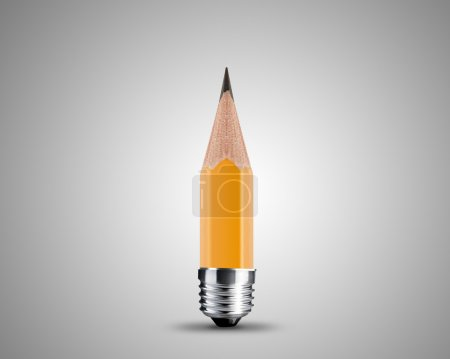 Photo for Conceptual pencil image, Sharpened Yellow pencil isolated on white background. - Royalty Free Image