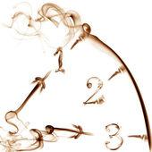 horloge fumé blanc