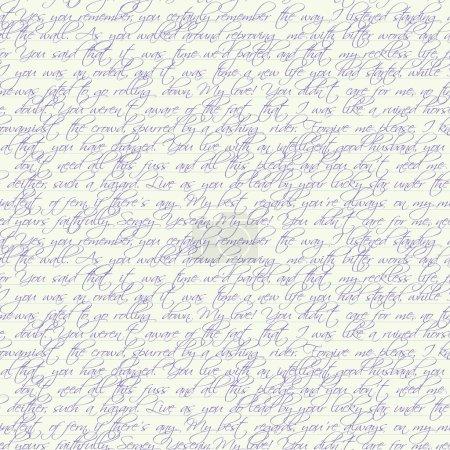 Photo pour Page sans couture avec texte écrit au stylo - image libre de droit
