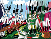The historic battle scene in 1812 godaRussko-French War