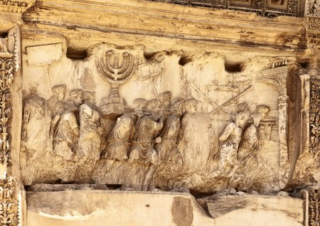 This wall relief on the Arch of Titus reveals Roma...