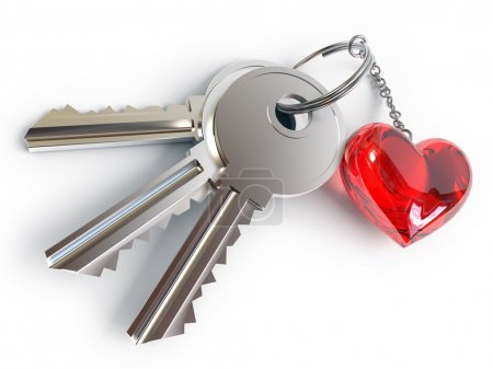 Keys, heart, key ring