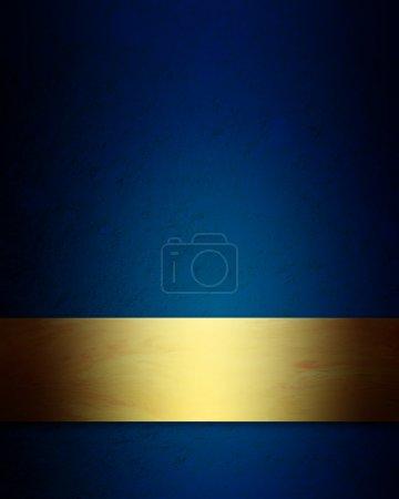 Photo pour Elégant fond de Noël bleu et or avec texture grunge vintage - image libre de droit