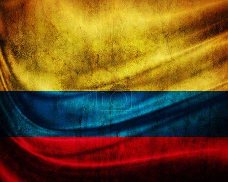 Photo pour Grunge flag Colombie - image libre de droit