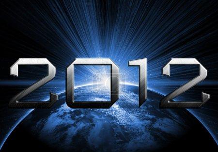Photo pour Année 2012 de l'arrière-plan de l'apocalypse - image libre de droit