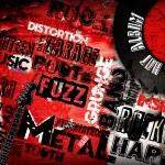 Rock Music poster on grunge
