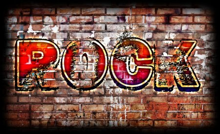 Photo for Rock Music poster on grunge - Royalty Free Image