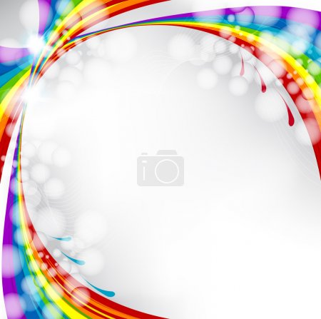 A splash of various colors, vector background