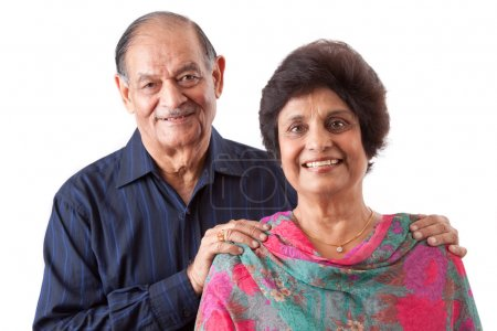 Photo for Portrait of a happy elderly East Indian couple - Royalty Free Image