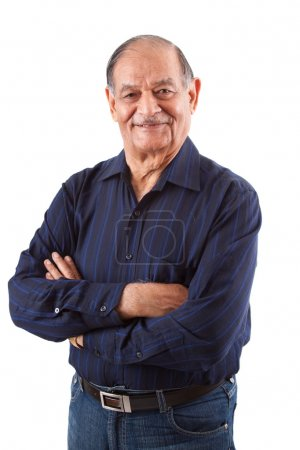 Photo for Portrait of a happy elderly East Indian man - Royalty Free Image