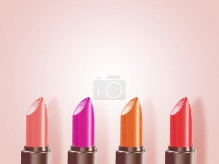 Photo pour Rouge à lèvres avec de diverses couleurs - image libre de droit