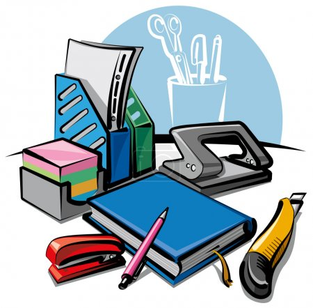 Illustration for Stationery tools - Royalty Free Image