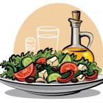 Fresh green salad...