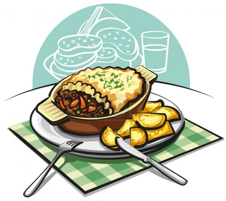 Shepherds pie with sauteed potatoes
