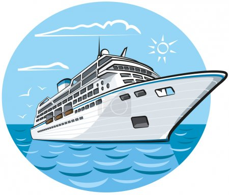 Illustration for Luxury cruise ship - Royalty Free Image