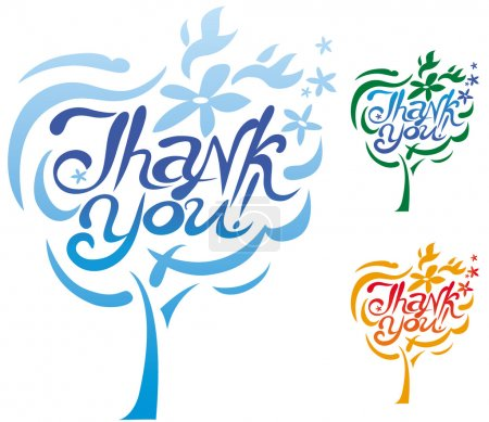 Illustration for Thank You inscription - Royalty Free Image