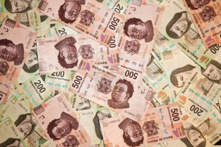 Mexican bills background