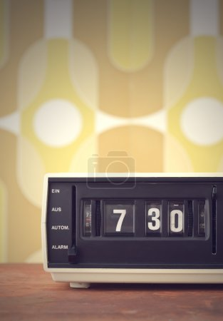 Photo for Wake up! vintage alarm clock radio - Royalty Free Image