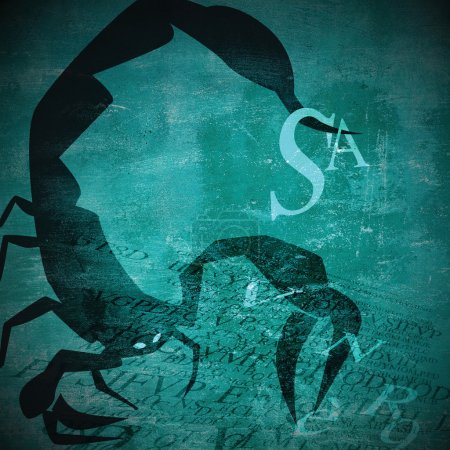 Grunge zodiac sign