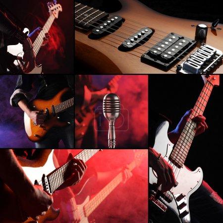 Photo pour Concert live rock collage - image libre de droit
