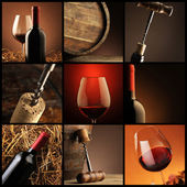 Wine collage