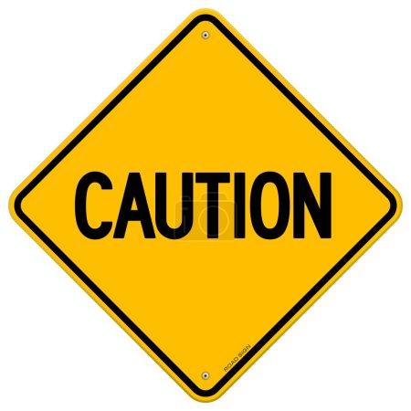 Caution Yellow Sign