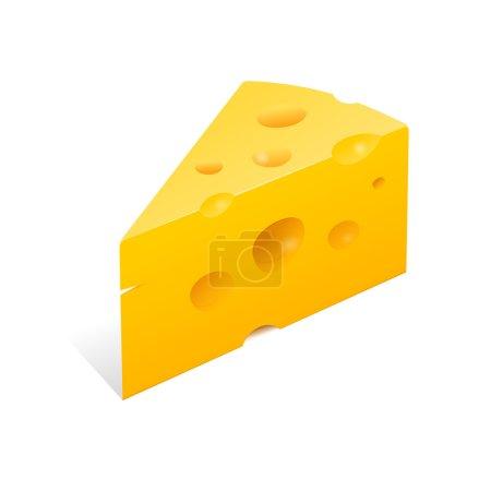 Illustration pour Illustration vectorielle haute définition du fromage jaune gourmet - image libre de droit