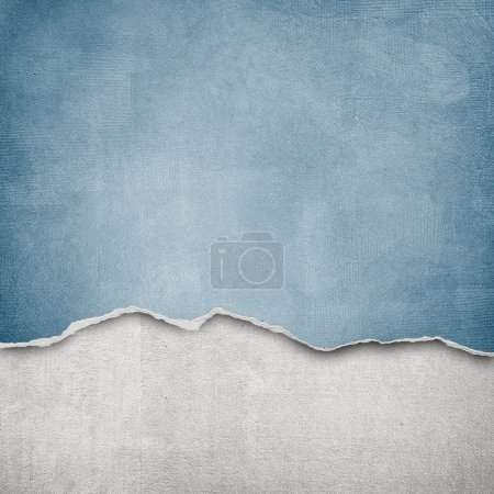 Photo for Riped vintage paper on grunge background - Royalty Free Image
