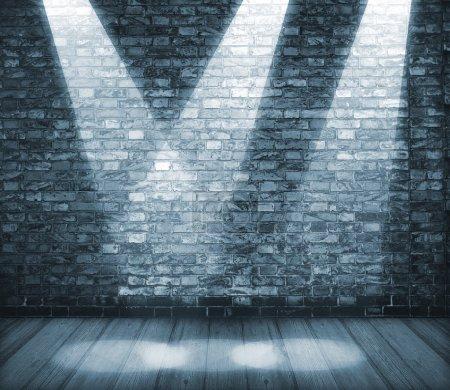 Photo pour Arrière-plan en style grunge. Intérieur brillant avec des projecteurs - image libre de droit