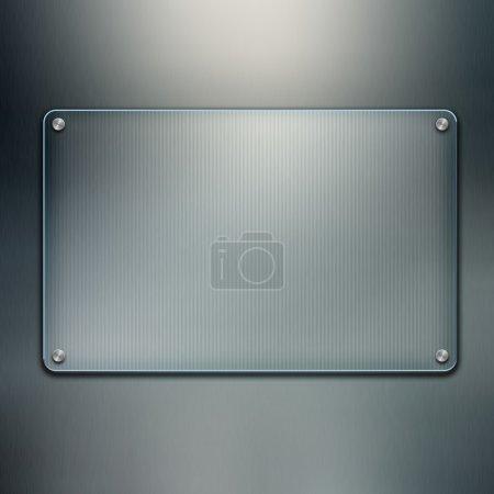 Photo pour Fond de plaque de verre vierge. Écran futuriste avec espace de copie - image libre de droit