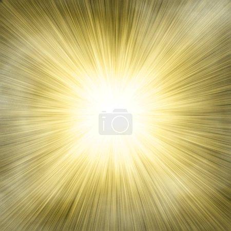 Foto de Foco único oro sobre fondo de smog - Imagen libre de derechos