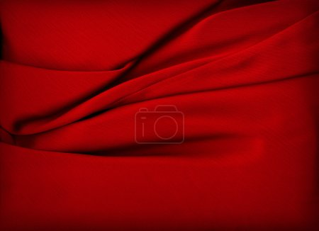 Photo for Smooth Red Satin - Royalty Free Image