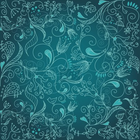 Illustration for Floral hand drawn background - Royalty Free Image