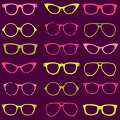 Trendy seamless pattern - different frames of spectacles