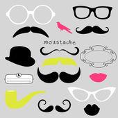 Retro Party set - Sunglasses lips mustaches