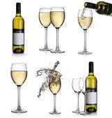 Fehér bor kollázs