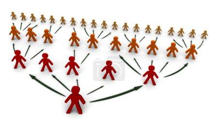 Photo pour Arbre concept de réseau d'affaires, illustration 3D - image libre de droit