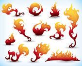 fiery elements