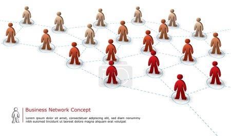 Illustration pour Concept de connexion d'équipe d'affaires - image libre de droit