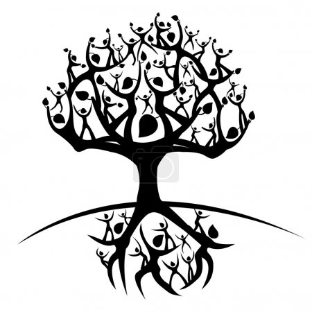 Illustration for Illustration of the tree of life - Royalty Free Image