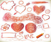 Handdrawn hearts