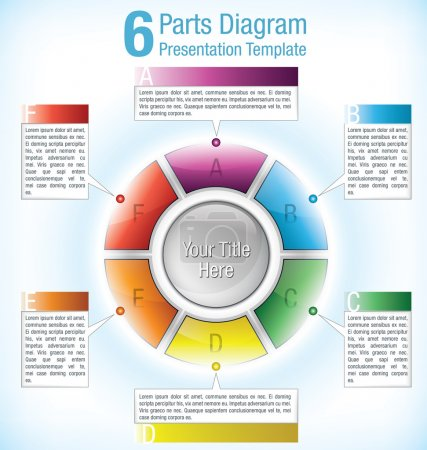 Colour coded segmented presentation wheel