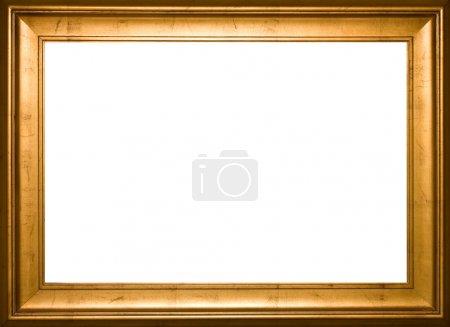 Photo for Gold frame background border - Royalty Free Image