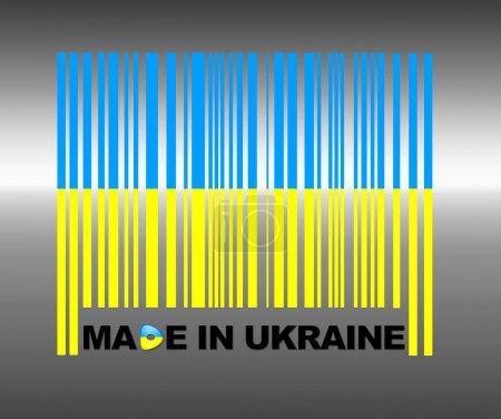 Photo pour Code à barres Ukraine . - image libre de droit