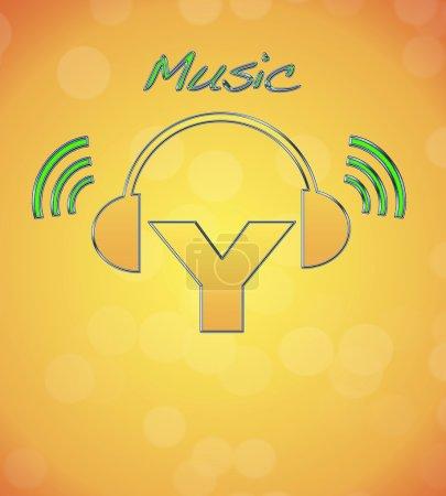 Photo pour Y, logo musical . - image libre de droit