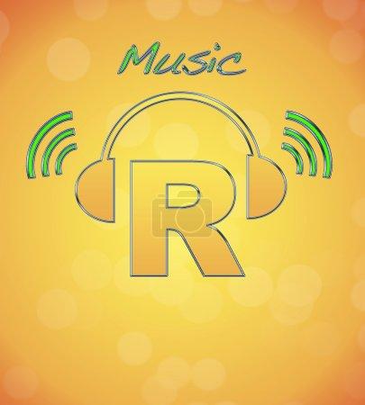 Photo pour R, logo musical . - image libre de droit
