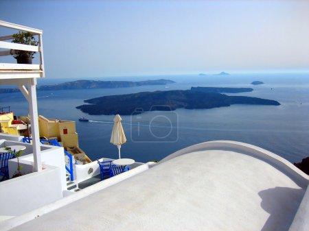 View from imerovigli at Santorini Island Greece